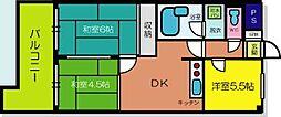 兵庫県尼崎市東難波町4丁目の賃貸マンションの間取り