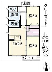 メゾンMKS A棟[1階]の間取り