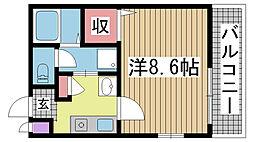 へーベル湊川[304号室]の間取り