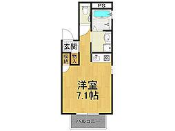 兵庫県西宮市甲子園口3丁目の賃貸アパートの間取り