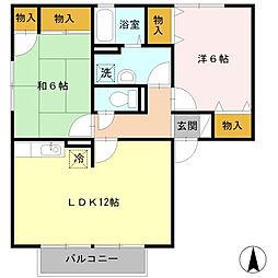 エルクレールC[2階]の間取り