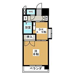 サザン名駅EAST[5階]の間取り