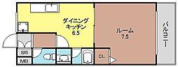 アニマート姫島[401号号室]の間取り