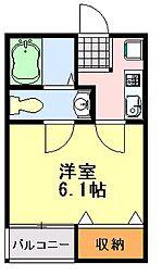 siro大巌寺[201号室]の間取り