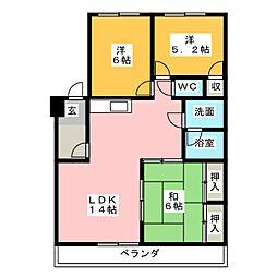 ロイヤルハイム[3階]の間取り