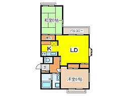 東京都府中市紅葉丘2丁目の賃貸マンションの間取り