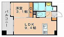 福岡県福岡市博多区銀天町3丁目の賃貸マンションの間取り