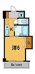 神奈川県横浜市鶴見区下末吉2丁目の賃貸マンションの間取り