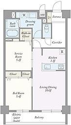 築地MKハウス[0502号室]の間取り