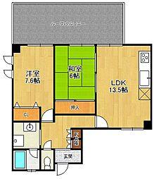 ソレイユ武庫[2階]の間取り