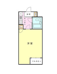 神奈川県横浜市磯子区丸山2丁目の賃貸マンションの間取り