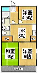 ラリーマンション[2階]の間取り
