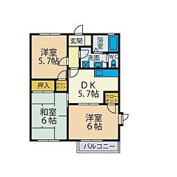 プライムタウン湘南III[2階]の間取り