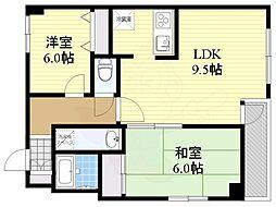 南青山シャトレアオキ 1階2LDKの間取り