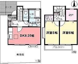 [タウンハウス] 東京都杉並区上井草2丁目 の賃貸【東京都 / 杉並区】の間取り