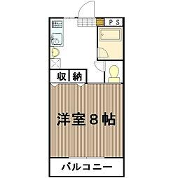 中森マンション[111号室]の間取り