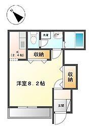 東京都八王子市梅坪町の賃貸アパートの間取り