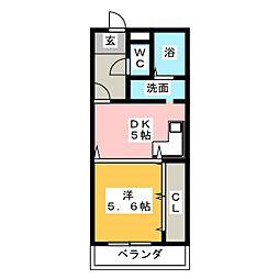 第1トミエマンション[1階]の間取り