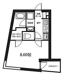 東京都世田谷区用賀2丁目の賃貸マンションの間取り