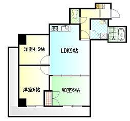 メゾンオーツー[5階]の間取り