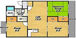 グランド−ル129[1階]の間取り