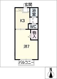 プチメゾンべル[2階]の間取り