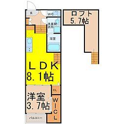 尾頭橋三丁目新築デザイナーズ(オトウバシサンチョウメシンチク[2階]の間取り