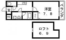 エスティームII番館[210号室号室]の間取り