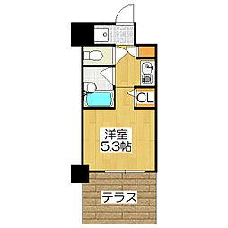 デ・リード金閣寺道[105号室]の間取り