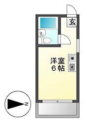 コーセーマンション[3階]の間取り