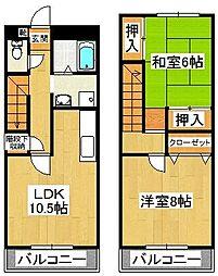 プラーティット本中山[309号室]の間取り