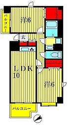 セリオ弐番館[7階]の間取り