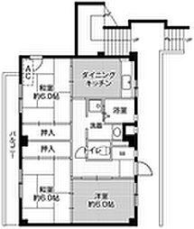 ビレッジハウス迎田3号棟[301号室]の間取り