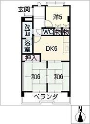 ガーデンハイツエクレール[3階]の間取り