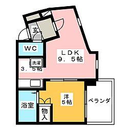 K'sハウス[2階]の間取り