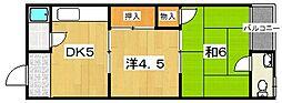 ヒロミマンション[2階]の間取り