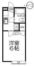 小和田ハウス[203号室]の間取り