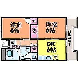 フジモトビル[4階]の間取り