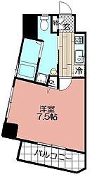 ベネフィス赤坂(1003)[602号室]の間取り