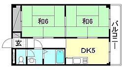 コーポ永田[203 号室号室]の間取り