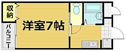 第48長栄レイク唐橋[3階]の間取り