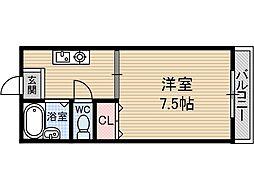 アルファコート茨木[2階]の間取り
