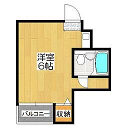 椥辻HSビル[6階]の間取り