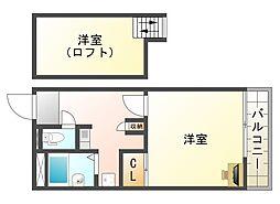 大阪府大阪市平野区西脇2の賃貸マンションの間取り