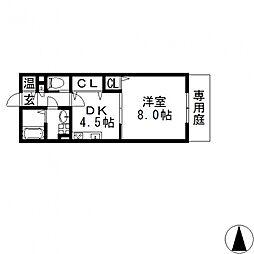 リバーサイド・ルーチェ[A203号室号室]の間取り