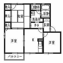 兵庫県高砂市梅井2丁目の賃貸アパートの間取り