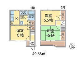 千葉県松戸市六高台の賃貸アパートの間取り