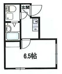 神奈川県横浜市西区中央2の賃貸アパートの間取り