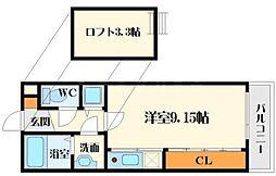 フォレステージュ江坂垂水町[8階]の間取り