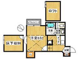 コンフォートベネフィス高宮6[1階]の間取り